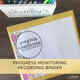 Progress Monitoring Recording Binder (Florals) | Special E