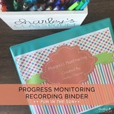 IEP Progress Monitoring Recording Binder (Fun in the Sun) | Special Education
