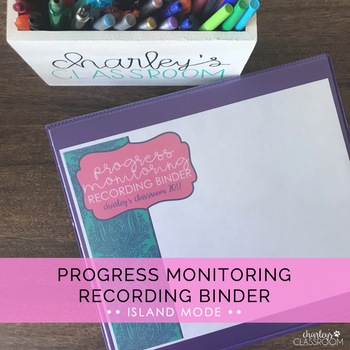 IEP Progress Monitoring Recording Binder (Island Mode) | Special Education