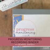 Progress Monitoring Recording Binder (School Days) | Speci