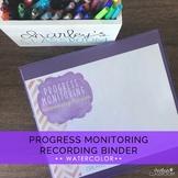 Progress Monitoring Recording Binder (Water Colors) | Spec