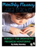 Monthly Fluency Data Tracker K-5