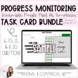 Progress Monitoring Scramble Task Card Puzzle Pixel Art Te