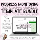 Progress Monitoring Self-Checking Templates Bundle