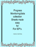 Progress Monitoring Sheet for Special Education