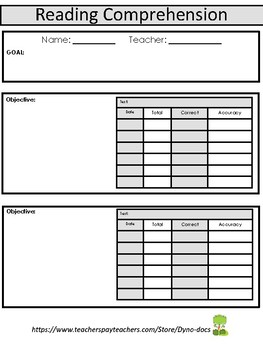 Progress Monitoring/ Student DATA Sheets- SPECIAL EDUCATION IEP BINDERS