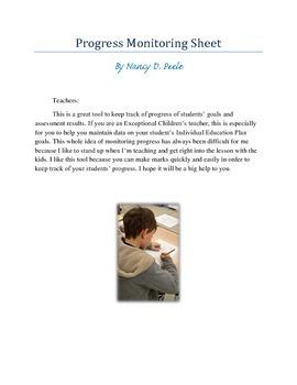 Progress Monitoring Teacher Assessment Simple Tool