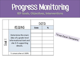 Progress Monitoring Template