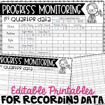 Data Collection Sheets for IEP Goals