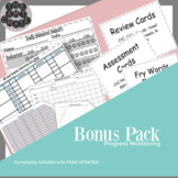 Progress Monitoring Tracking Sheets Bonus Pack | Simple