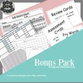 Progress Monitoring Tracking Sheets Bonus Pack   Simple