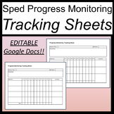 Progress Monitoring Tracking Sheets for Special Ed [Google