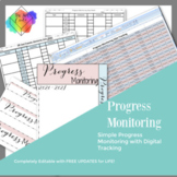Progress Monitoring Tracking Sheets with Digital Data Trac
