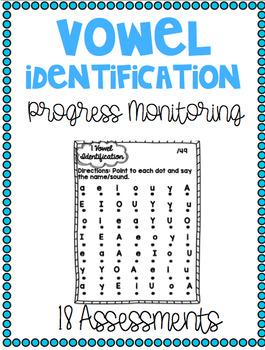 Progress Monitoring Vowel Assessments {18 Assessments}