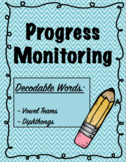 IEP and RTI Reading Progress Monitoring - Vowel Teams and