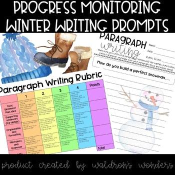 Progress Monitoring - Winter Writing Prompts