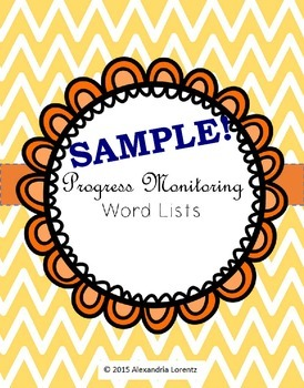 Progress Monitoring Word Lists Sample: R-Controlled, VCE,