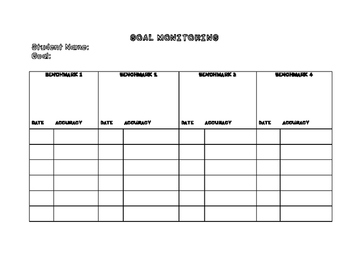 Progress Monitoring Worksheets
