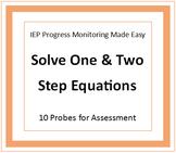 Progress Monitoring for One and Two Step Equations