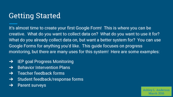 Progress Monitoring with Google Forms - A Detailed Guide