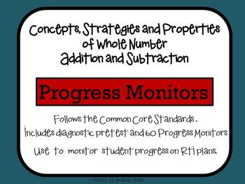 Progress Monitors for Addition and Subtraction