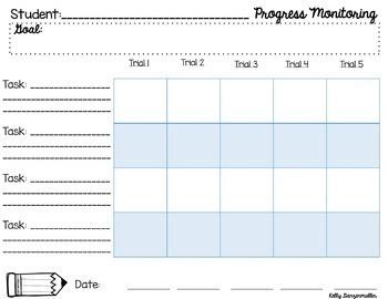 Data sheet template to track progress toward iep goals from.