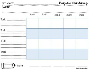 It is an image of Revered Printable Iep Goal Tracking Sheets