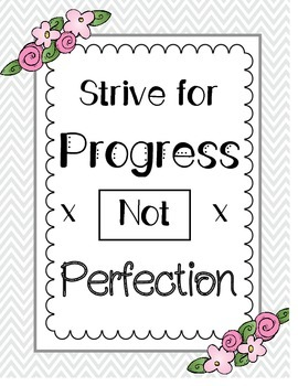 Progress Not Perfection Poster
