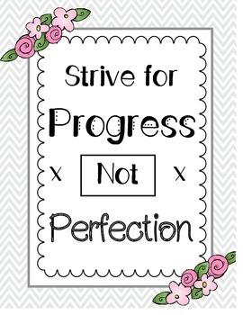 Progress Not Perfection Poster