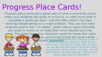Progress Place Cards