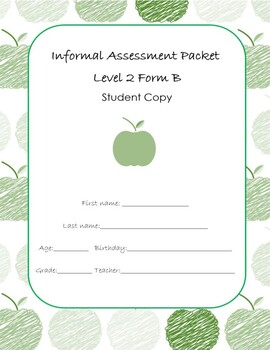 Special Education Progress Report Assessments Student Copy