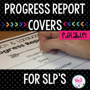 Progress Report Covers for SLPs