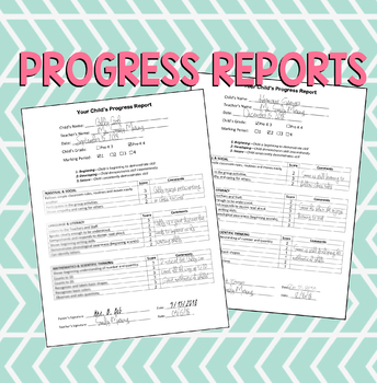 Progress Report - Great for PARENT CONFERENCES (EDITABLE)