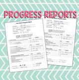 Progress Report - Great for PARENT CONFERENCES (EDITABLE)