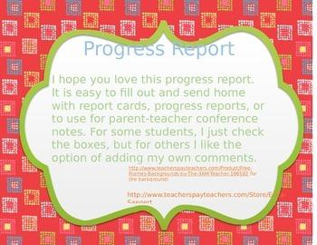 Progress Report Form