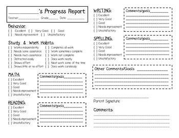 Progress Report- Goals Centered