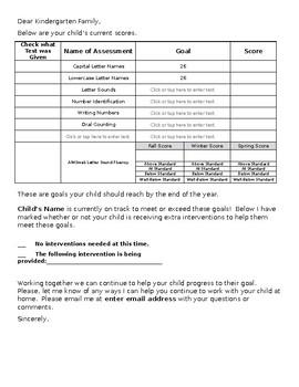 Progress Report Letter