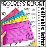 Progress Report Parent Letter