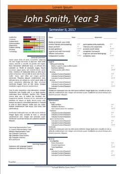Progress Report Template - Fresh Start