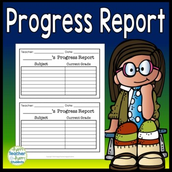 Progress Report: Use at Conferences or Any Time! Half-Page Design