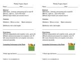 Progress Report for Primary Grades