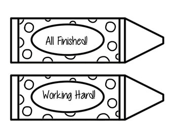 Progress Signal Crayons // Classroom Management Cards