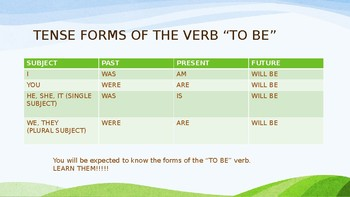 Progress Verb Tense