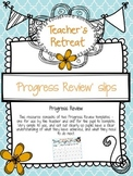 Progress review template