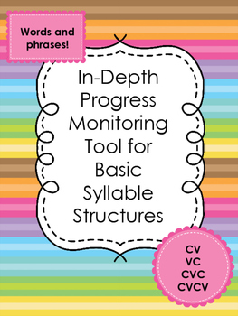 Progress Monitoring Tool for Speech Production in Basic Syllable Structures