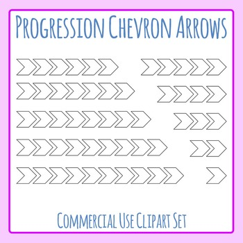 Progression Chevron Arrows - Sequence or Consequences Clip Art Commercial Use