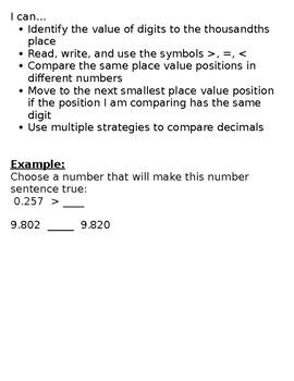 Progression of Numbers & Base Ten Standards- 5.NBT.3b