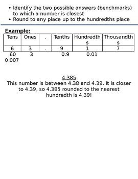 Progression of Numbers & Base Ten Standards- 5.NBT.4