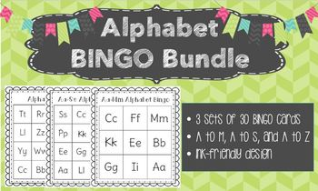 Progressive Alphabet Bingo Bundle