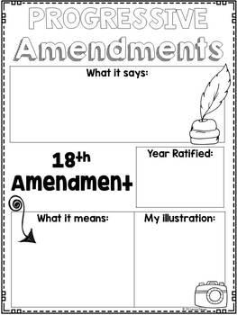 Progressive Amendments: Graphic Organizers